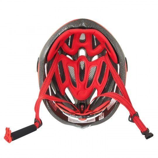 Force ROAD Fahrradhelm schwarz/rot/weiß 3