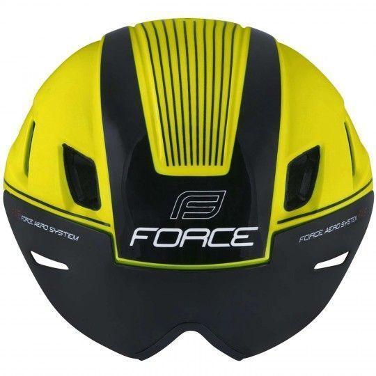 Force WORM Fahrradhelm inkl. Visier neongelb 3