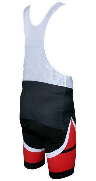 Nalini CARBON Fahrrad-Trägerhose schwarz/rot 3