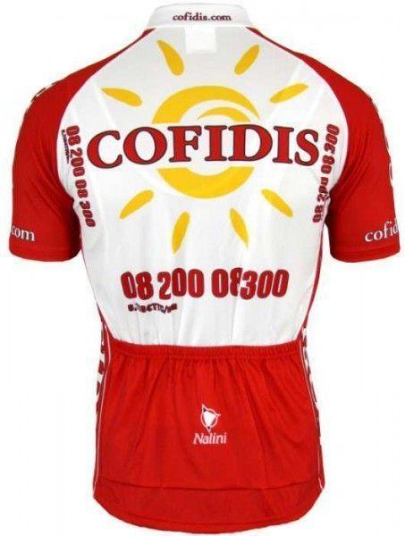 Cofidis 2008 Nalini Radsport-Profi-Team - Kurzarmtrikot mit kurzem Reißverschluss