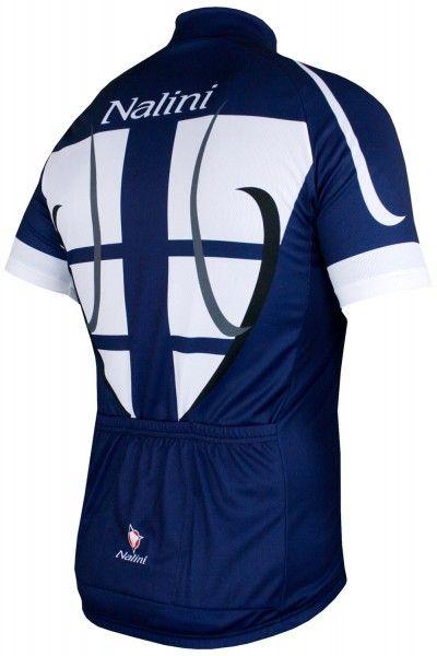Nalini STEEL JERSEY Fahrrad-Kurzarmtrikot blau/weiß 3