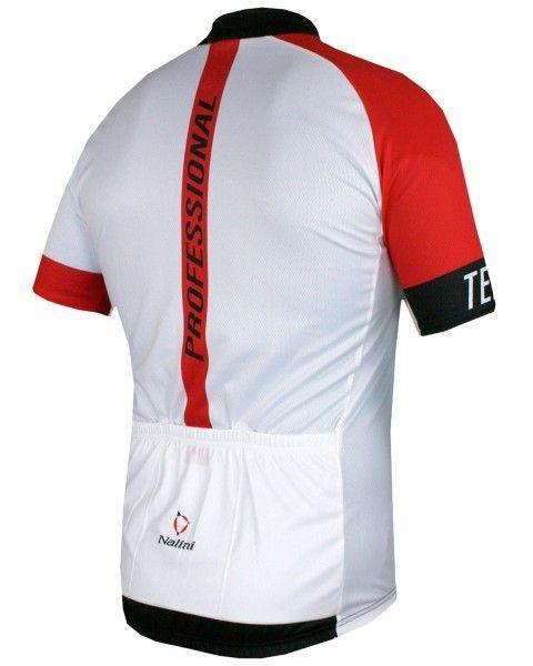Übergröße Nalini STRIKE Fahrrad-Kurzarmtrikot weiß/rot 3