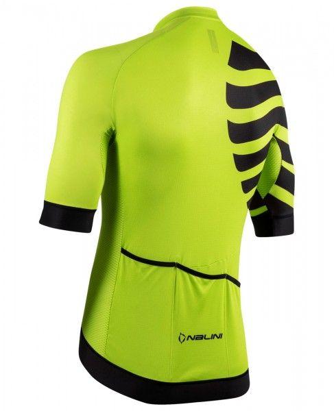 Nalini Stripes Jersey Fahrrad Kurzarmtrikot gelbgrün 2