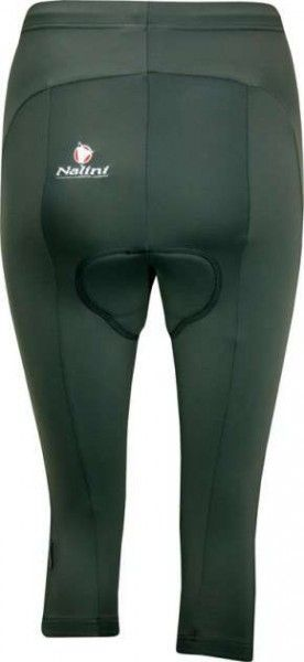CALCOCITE grau - 3/4 Damenhose (Bermuda) ohne Träger - NALINI Radsportbekleidung aus der Base - Kollektion Größe L (4)