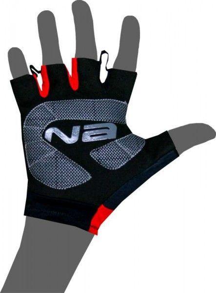 Nalini PRO Logo Gloves Kurzfingerhandschuh schwarz/rot (E18-4000)