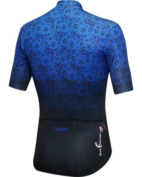 RH+ Gear Fashion Lab Radtrikot kurzarm blau/schwarz 3