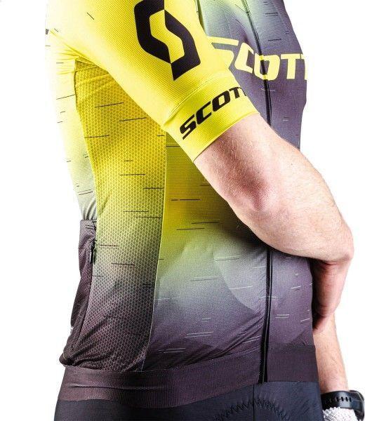 Scott RC PRO Radtrikot kurzarm gelb/schwarz 3