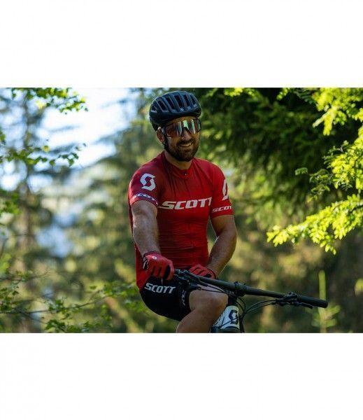 Scott RC PRO Radtrikot kurzarm rot/weiß 3