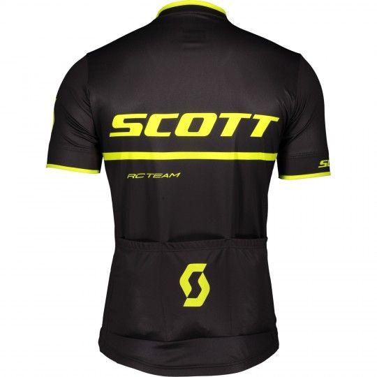 Scott RC TEAM 20 Radsport-Set (Radtrikot kurzer RV + Radhose kurz) schwarz/neongelb