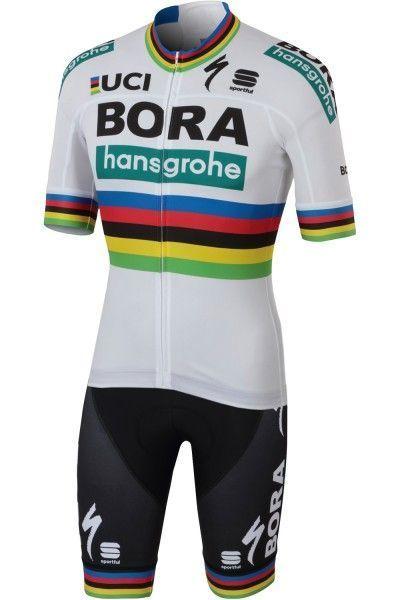 BORA-hansgrohe Straßenrad Weltmeister 2018 Trägerhose kurz - Sportful Radsport-Profi-Team Größe M (3)