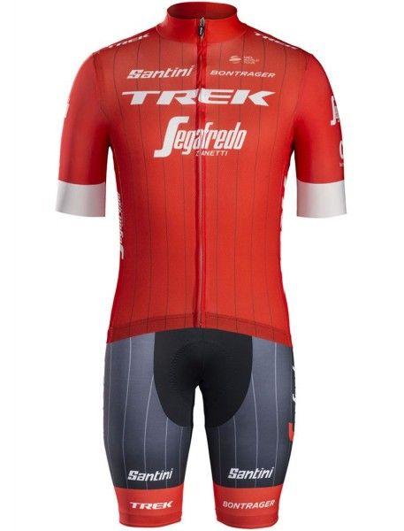 TREK - SEGAFREDO 2018 Radtrikot kurzarm (langer Reißverschluss) - Santini Radsport-Profi-Team Größe M (3)