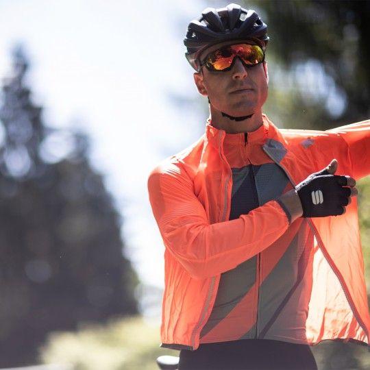Sportful Hot Pack Easylight Fahrrad Windjacke orange 3