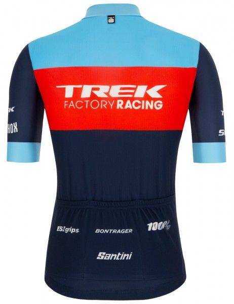 Maillot ciclista manga corta Trek Factory Racing XC 2021 (relámpago completo) - Santini