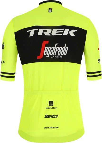 TREK - SEGAFREDO 2019 training edition Radtrikot kurzarm (langer Reißverschluss) - Santini Radsport-Profi-Team Größe S (2)
