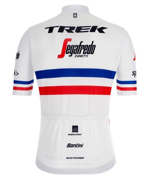 TREK - SEGAFREDO french champion 2019 short sleeve cycling jersey (long zip) - Santini professional cycling team