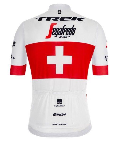 Maillot ciclista manga corta TREK - SEGAFREDO campeón de Suiza 2019 (relámpago completo) - Santini