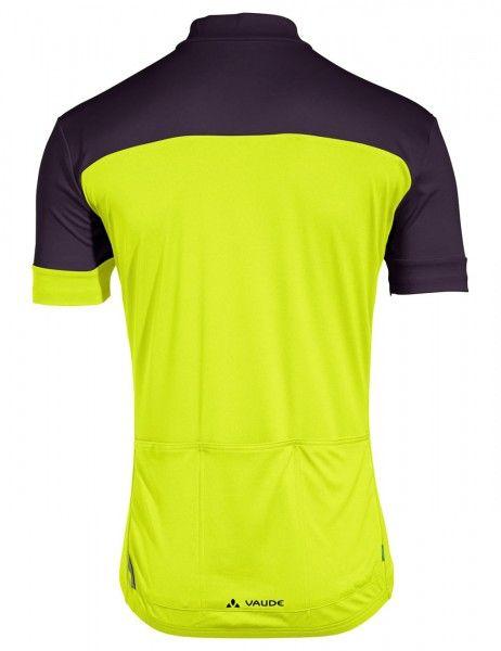 vaude men mossano t-shirt V Radtrikot kurzarm gelb grün 3