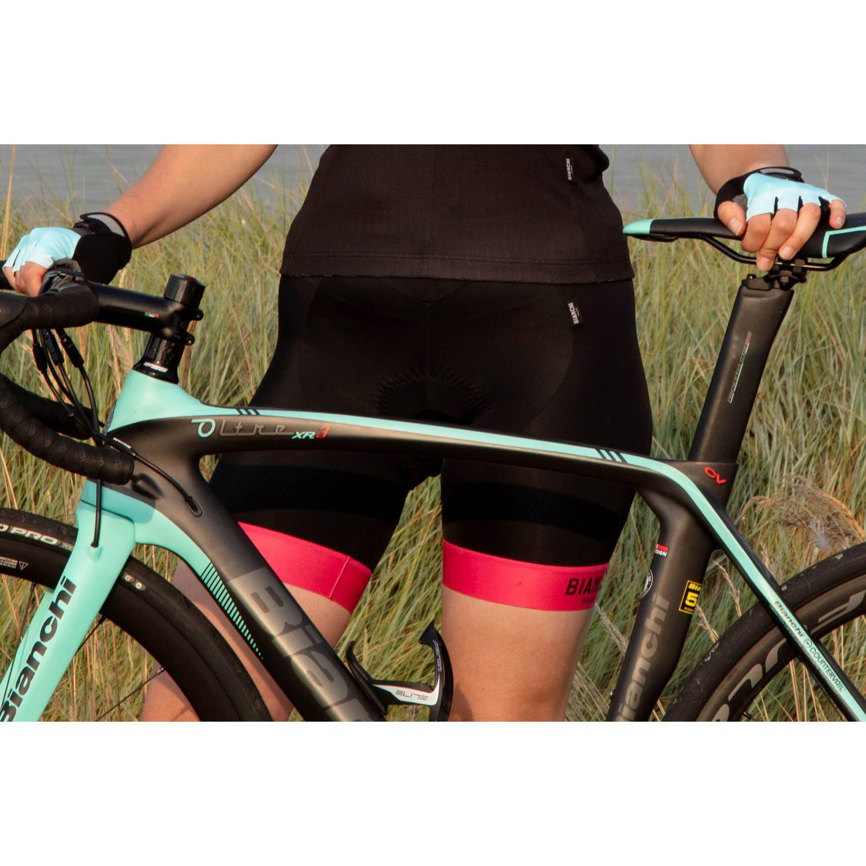 Bianchi Milano AVOLA womens cycling shorts black pink (E19-4700). Next 94d9148ba