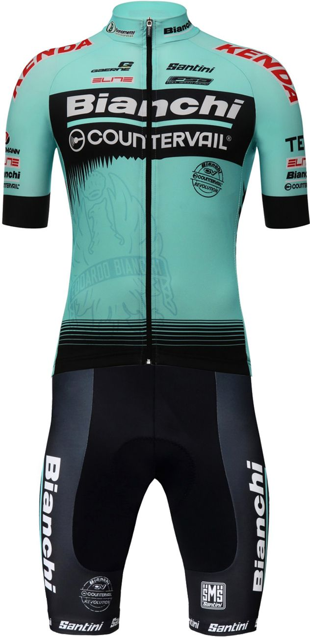 Bianchi Countervail 2018 short sleeve cycling jersey - Santini professional cycling  team. Next b26ae5ee2