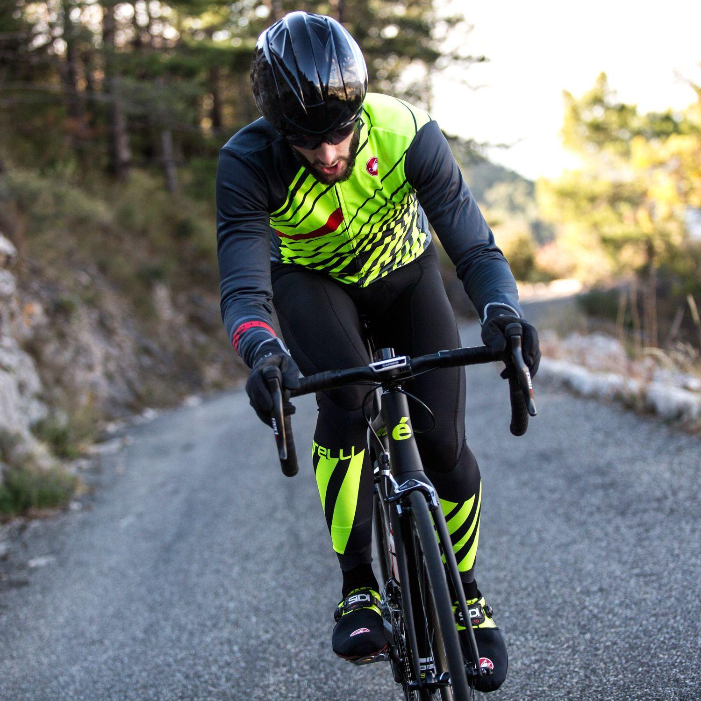 a531de6d0 Castelli LW cycling bib tights black yellow fluo. Next
