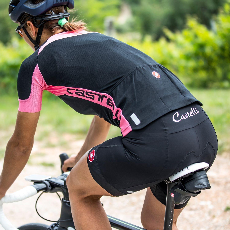 2019 Castelli Women/'s Millerighe Full Zip Bike Jersey