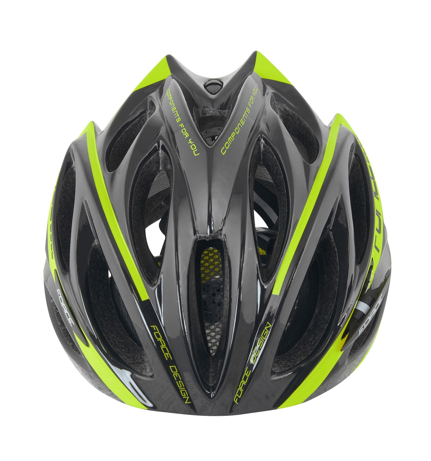 Force BULL cycling helmet black fluo yellow (902925-26). Next e5a8ae58d