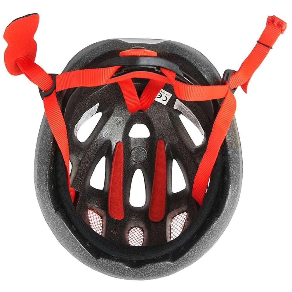 trikotexpress force lark kinder fahrradhelm schwarz rot wei 902214 gr e s 48 54 cm. Black Bedroom Furniture Sets. Home Design Ideas