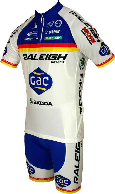 RALEIGH 2012 MOA professional cycling team - cycling jersey with short zip.  Next b8ba035a3