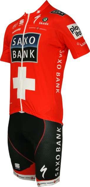 4e1605899 Saxo Bank 2010 - Swiss Champion Sportful professional cycling team - tricot  (jersey short sleeve. Next