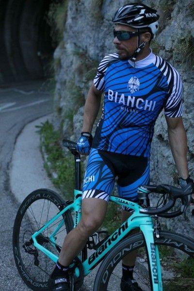 Bianchi Milano CAINA Radtrikot kurzarm blau (E18-4200)