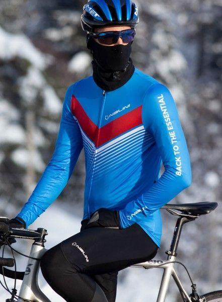 Actionbild2 Nalini LS Fit Jersey Fahrrad Langarmtrikot blau