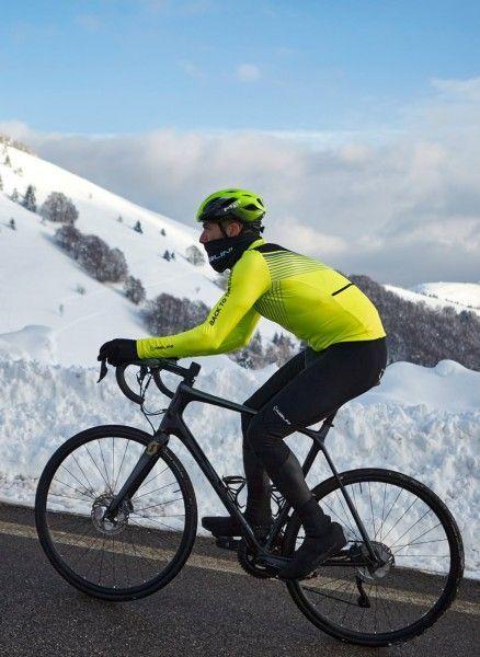Actionbild2 Nalini LS Fit Jersey Fahrrad Langarmtrikot neongelb