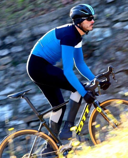 Actionbild2 Nalini Pro Corsa Jersey Fahrrad Langarmtrikot blau
