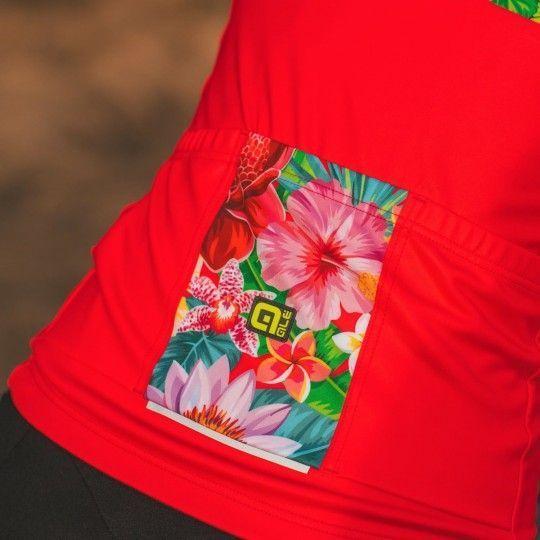 Alé FLOWERS LAB Lady - Damen Radtrikot langarm pink 4