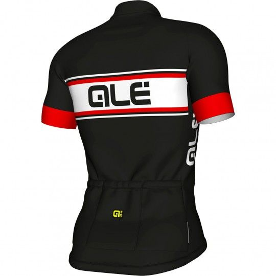 ALE VETTA short sleeve cycling jersey black/red