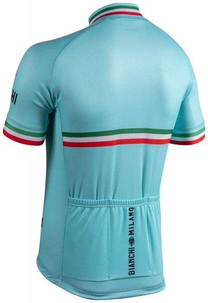 Set de ciclismo (maillot de manga corta ISALLE + culotte con tirantes PELAU, celeste) - Bianchi Milano (E21)