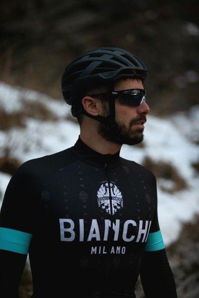 Bianchi Milano Perticara Radtrikot langarm schwarz 4
