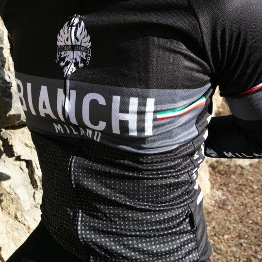 Bianchi Milano Sillaro Radtrikot langarm schwarz 4