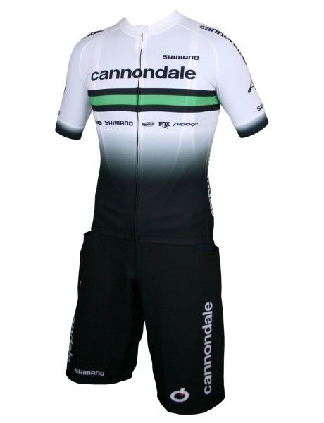 Cannondale FACTORY RACING 2020 Set Bike Shorts + Trikot weiß