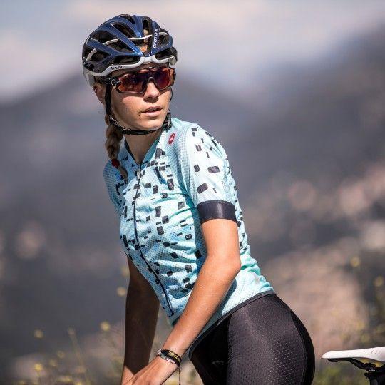 Castelli CLIMBER'S Damen Radtrikot kurzarm aruba blue 4