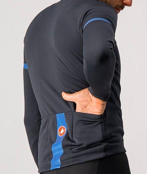 Castelli FONDO 2 Radtrikot langarm schwarz/blau 4