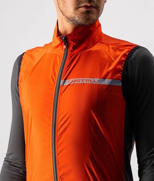 Castelli SQUADRA STRETCH VEST - Fahrradweste orange-rot 4