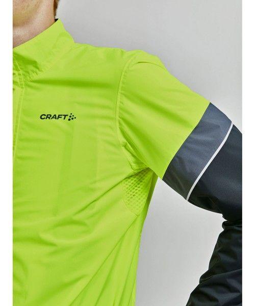 Craft Core Endur Hydro Jacket Fahrrad Regenjacke neongelb 4