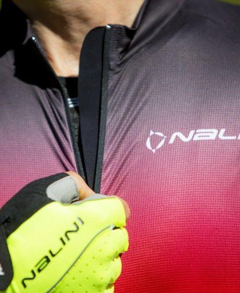 Maillot ciclista manga corta Speed Jersey (néon amarillo/rojo, E21-4050) - Nalini