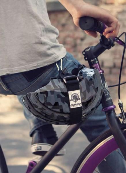 Carrera Fahrradhelm FOLDABLE schwarz glänzend