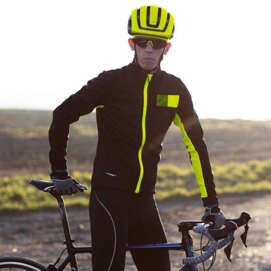 Force FROST Softshell Fahrradjacke schwarz/neongelb 3