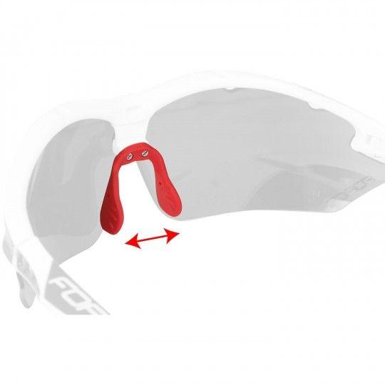 Force RON bike-/ sport eyewear white/red + 2 extra lens (91011)