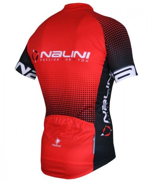 Set de ciclismo (maillot de manga corta BORGO C + culotte con tirantes VILLAGGIO, negro/rojo) - Nalini (E21)