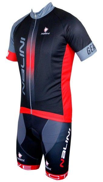 Nalini Radsport SET (STRIKE + ZUBENE1) schwarz/rot 1