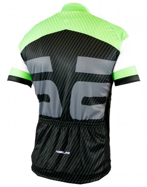 Nalini MONZA Radtrikot kurzarm schwarz/grün (E19-5350S) Größe XL (5)